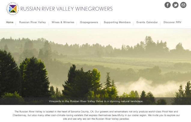 Russian River Valley Winegrowers | Website Development
